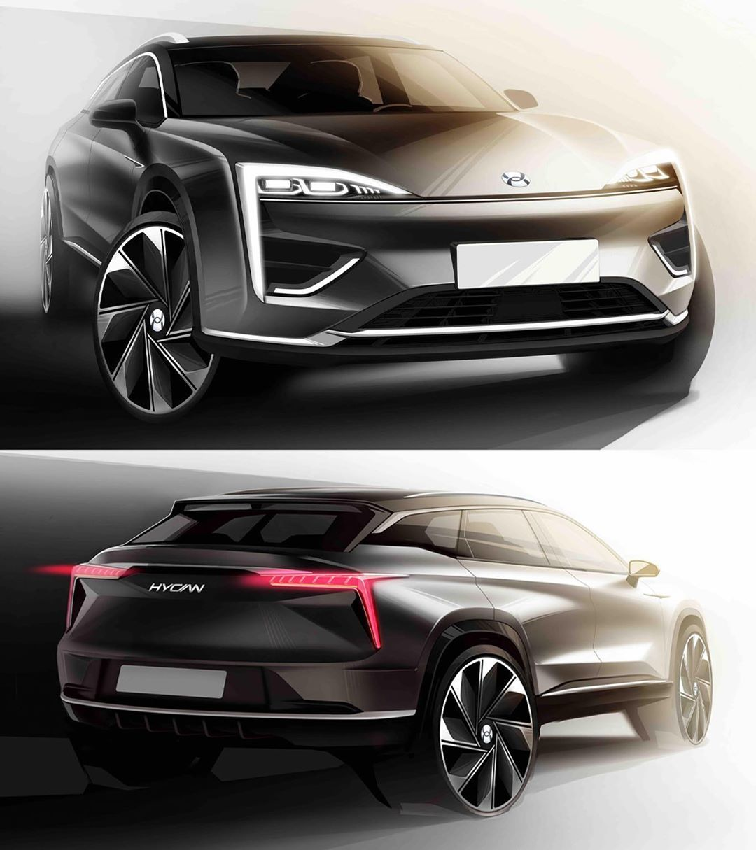 Car Design World On Instagram 2020 Hycan 007 Official Photos And Sketches Electric Vehicle By Joint Venture Nio Gac China In 2020 Car Design Car Automotive Design