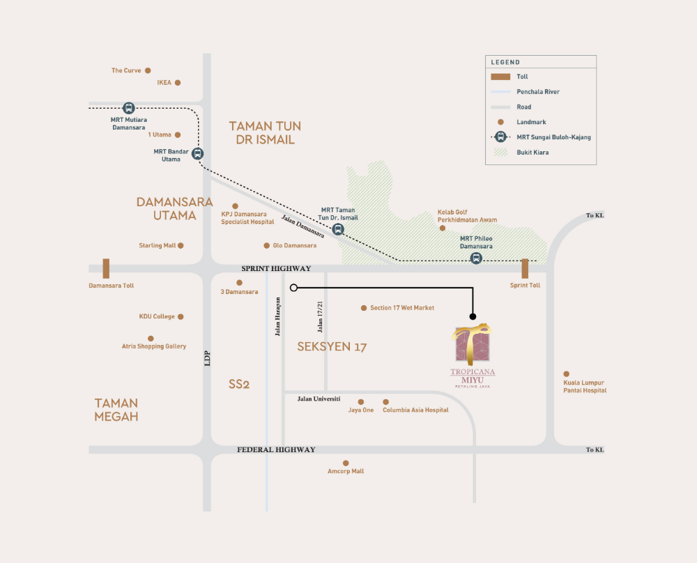 Tropicana Miyu Petaling Jaya Map Design Location Map Design