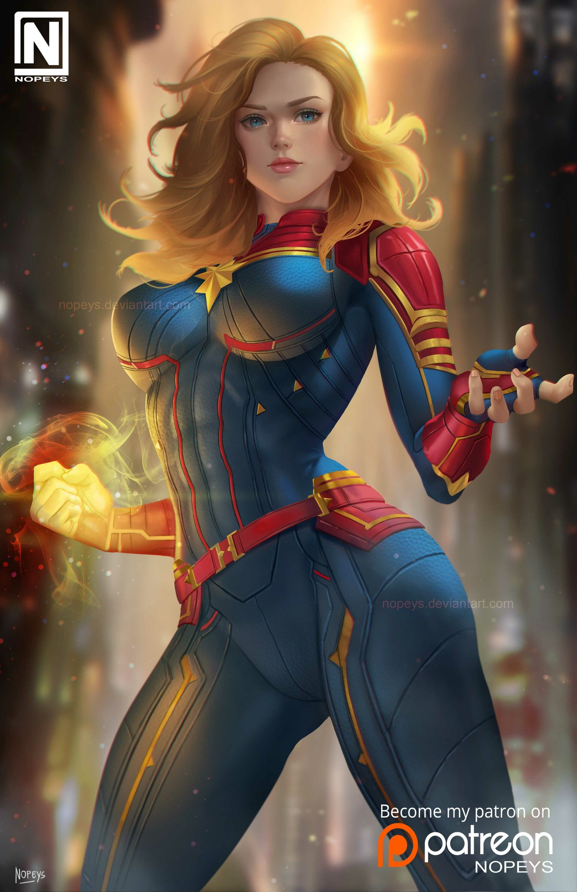 ArtStation - Captain Marvel, NOPEYS : Norman de Mesa