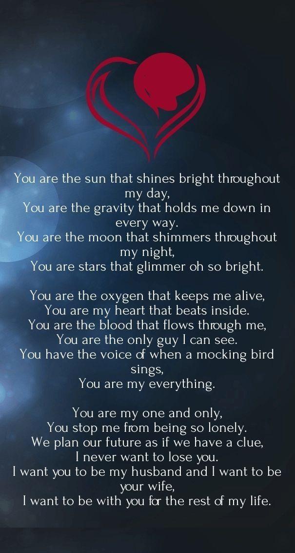 You we poem love 57 Short
