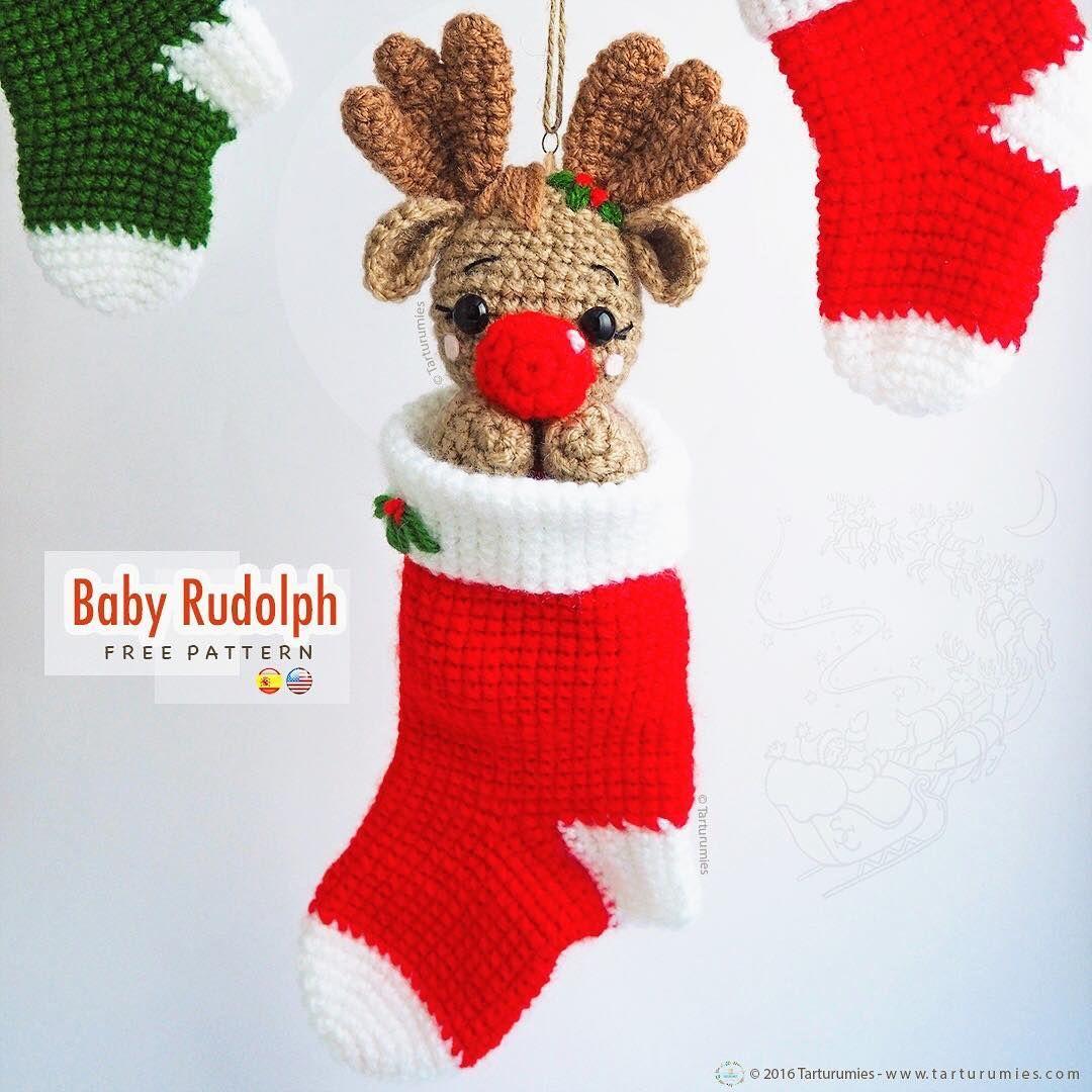 Amigurumi Free Pattern Christmas Reindeer Rudolph - Patrón Gratuito ...