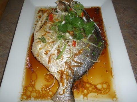 Steamed Golden Pompano Fish Pompano Fish Recipe Steamed Fish Recipes Fish Recipes Baked