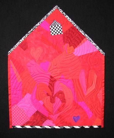 Cute fabric envelope? Yvonne Porcella...quilt