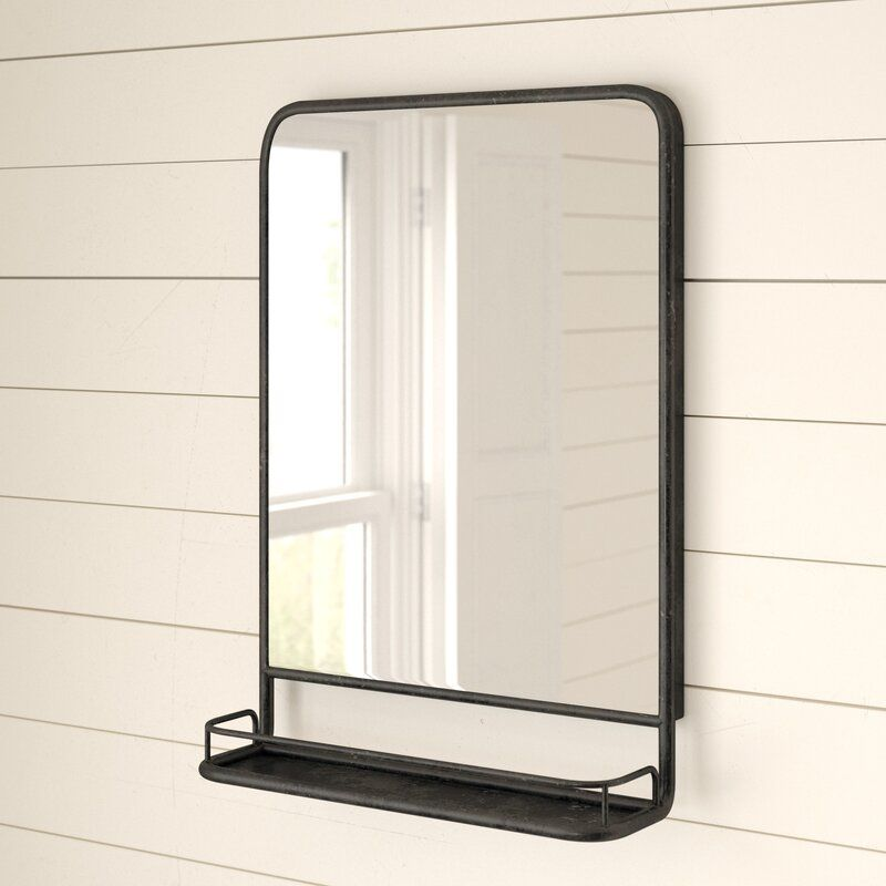 Ricardo Accent Mirror With Shelves In 2021 Mirror With Shelf Accent Mirrors Farmhouse Bathroom Mirrors