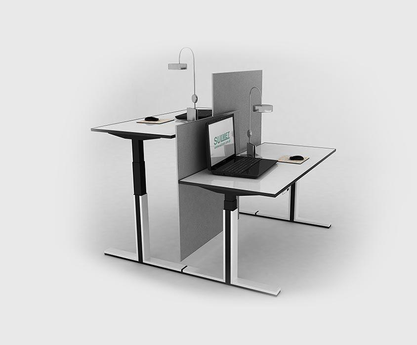 Regulowany stelaż biurka nowoczesne podnoszone elektrycznie biurko