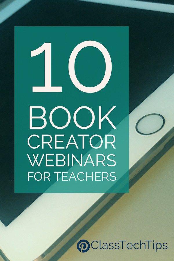 10 Free Book Creator Webinars For Teachers Class Tech Tips Book Creator Webinar Math Websites