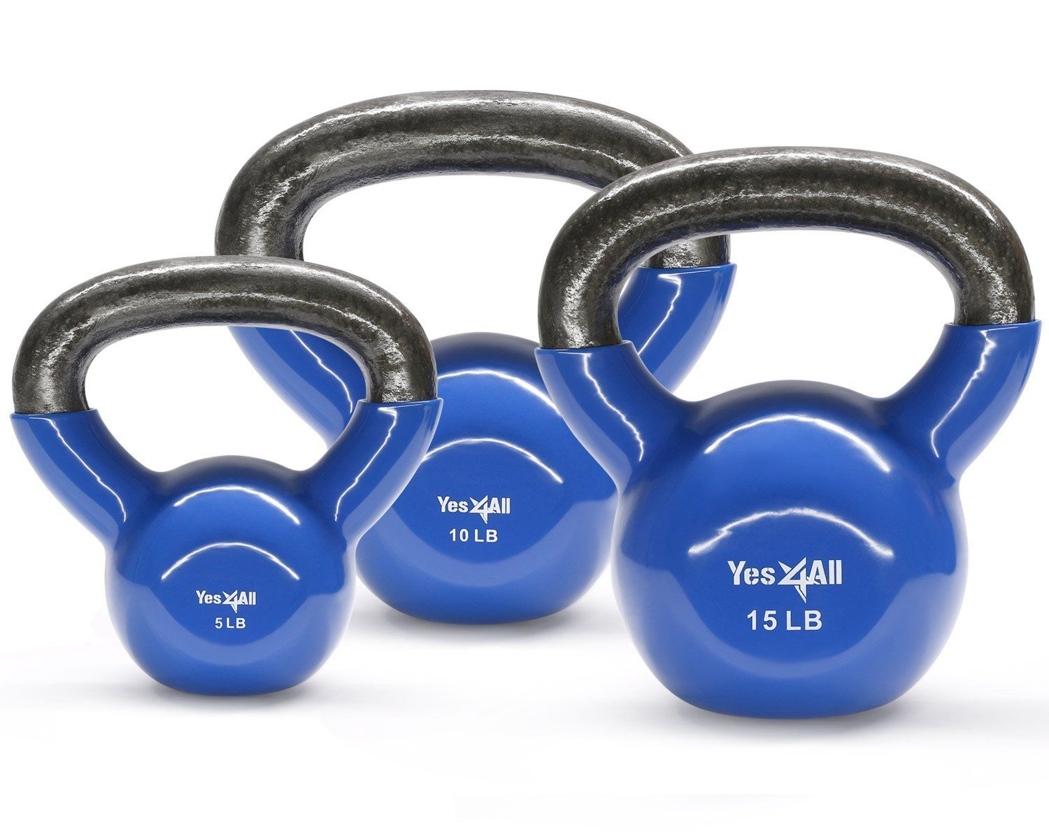 Yes4All Combo Coated Kettlebell Set of Weights