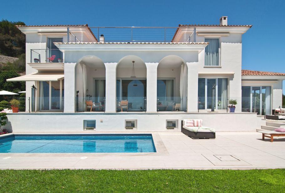 Architecture Design Villa Великолепная испанская вилла на Майорке | spanish, modern villa