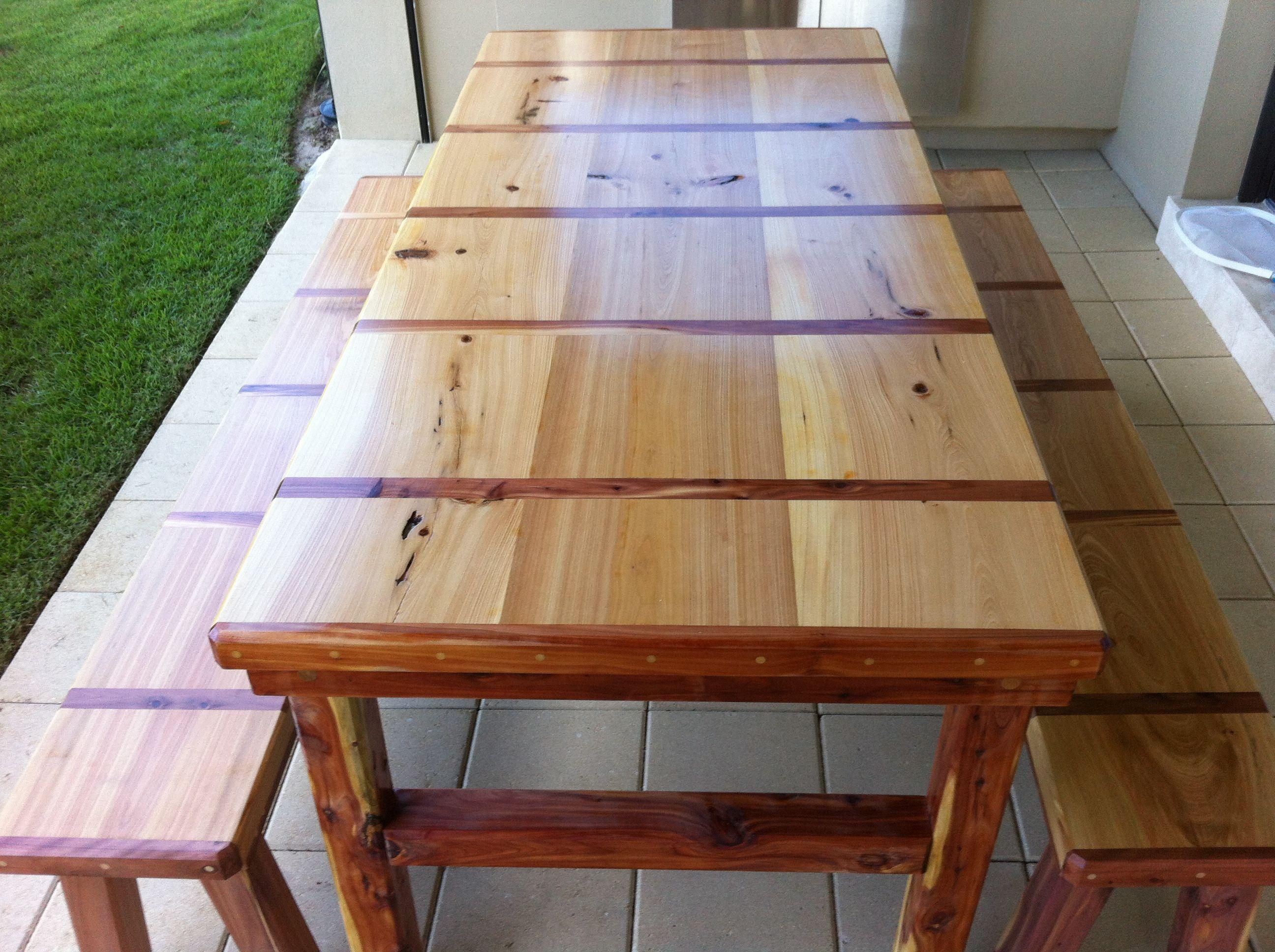 8 Foot Cypress And Cedar Indoor Outdoor Dining Table