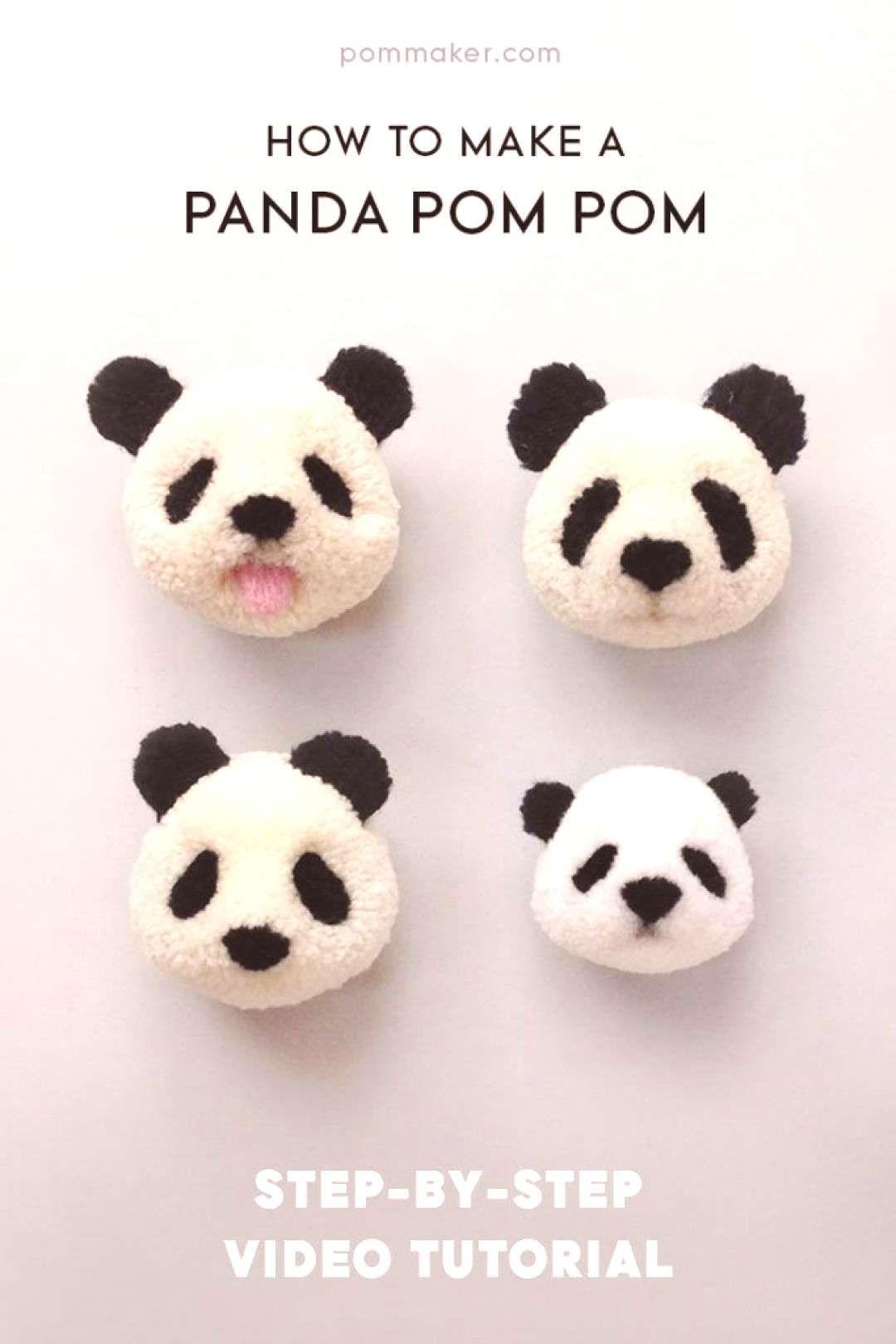 Pom Maker Tutorial  How to Make a Panda Pompom   You can find Pom poms and more on our websitePom Maker Tutorial  How to Make a Panda Pompom