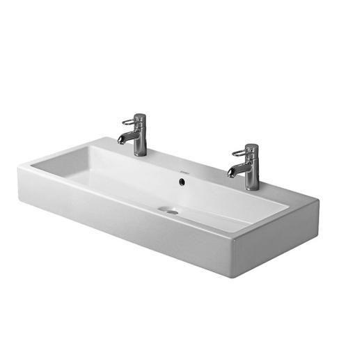Duravit Vero Lavabo suspendu pour 2 robinets avec ou sans trop-plein ...