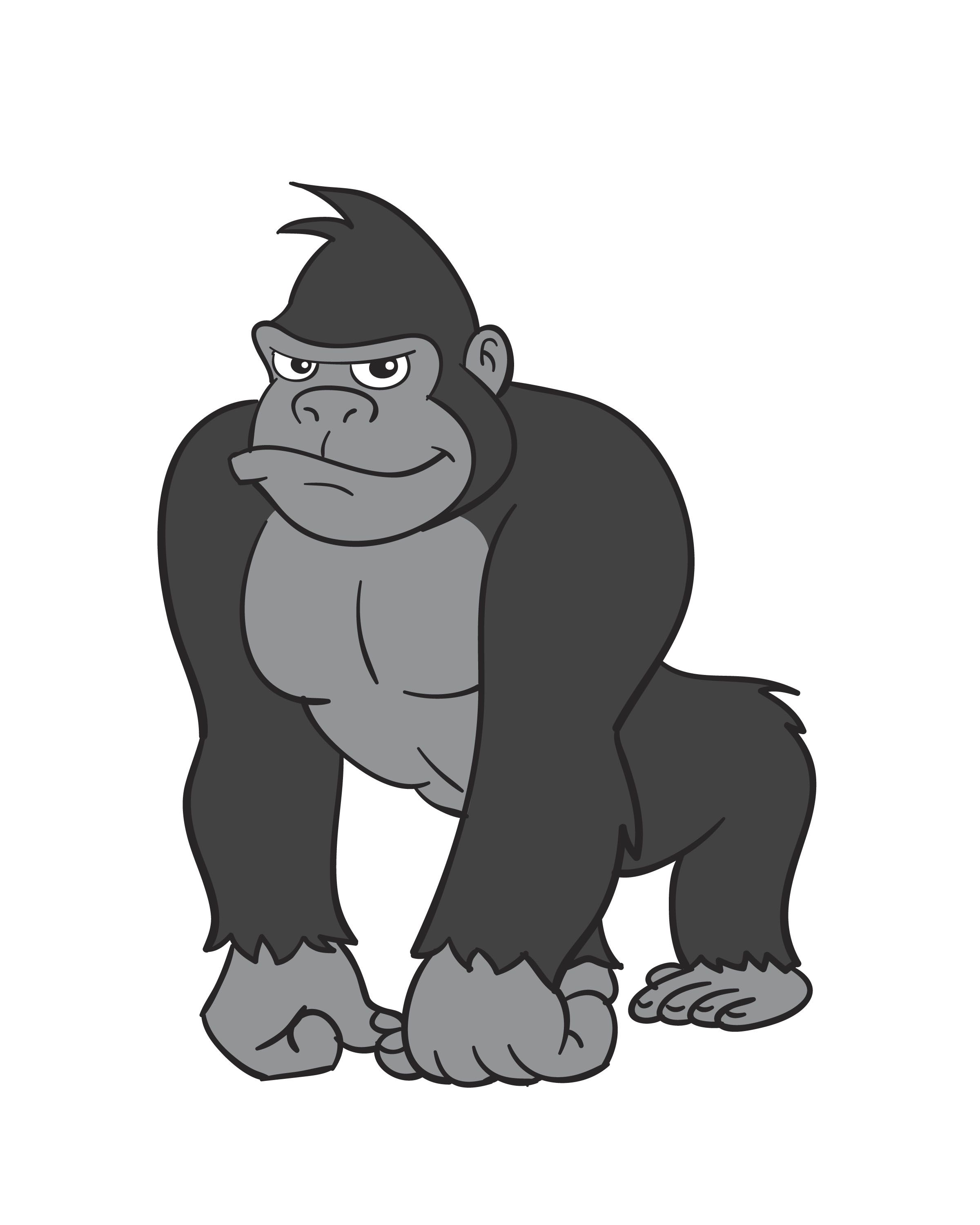 It is a graphic of Insane Picture Of Gorilla Drawing A Picture