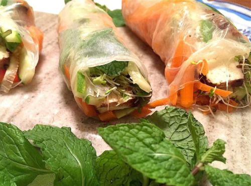 Refreshing Veggie Low-FODMAP Spring Rolls Recipe Refreshing Veggie Low-FODMAP Spring Rolls Recipe