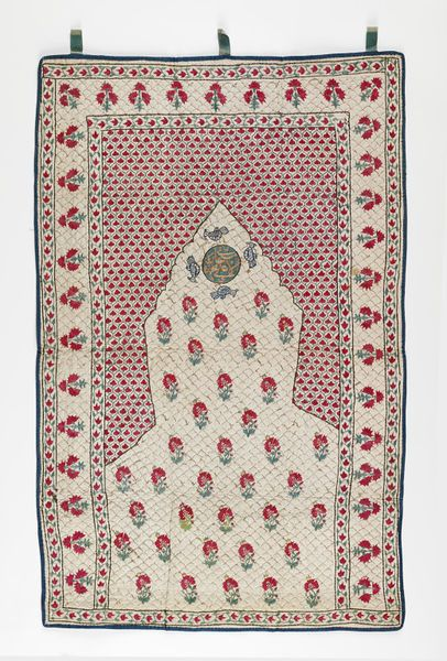 Cotton prayer mats with silk embroidery iran colors for Tejido persa