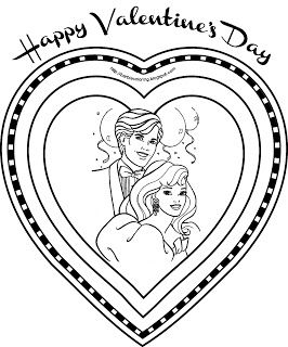 Barbie Coloring Pages Barbie And Ken Valentine S Day Coloring