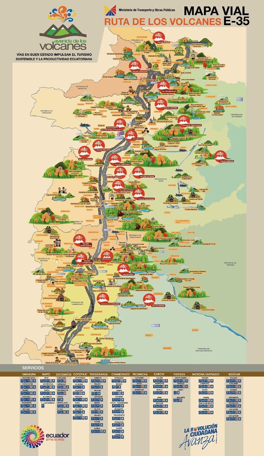 Ecuador Te Espera Mapas Turísticos Y Viales Del Ecuador Mapa Turístico Ecuador Mapa Playas De Ecuador