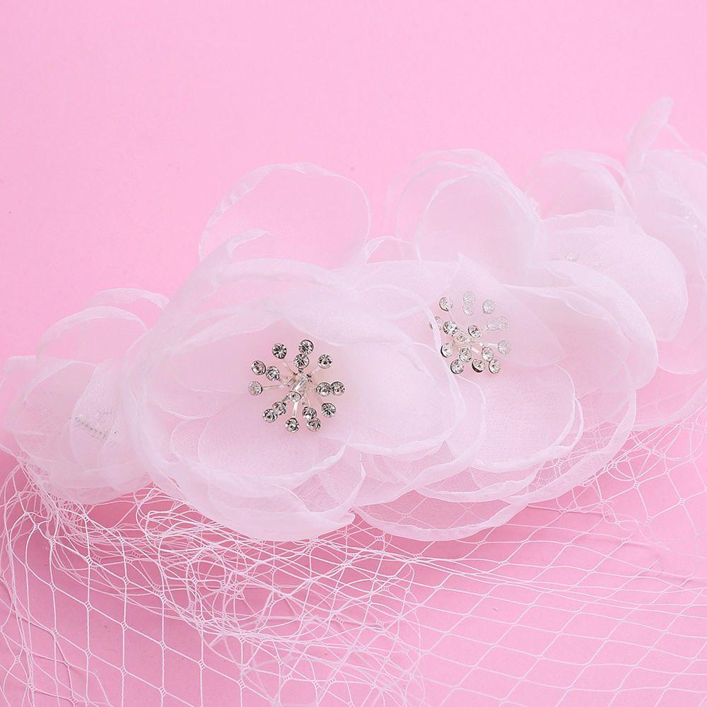 Romantic birdcage bridal gauze face veil wedding veil with comb