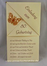 Annes Kartenstube Einladungen Zum 80 Geburtstag Einladung 80