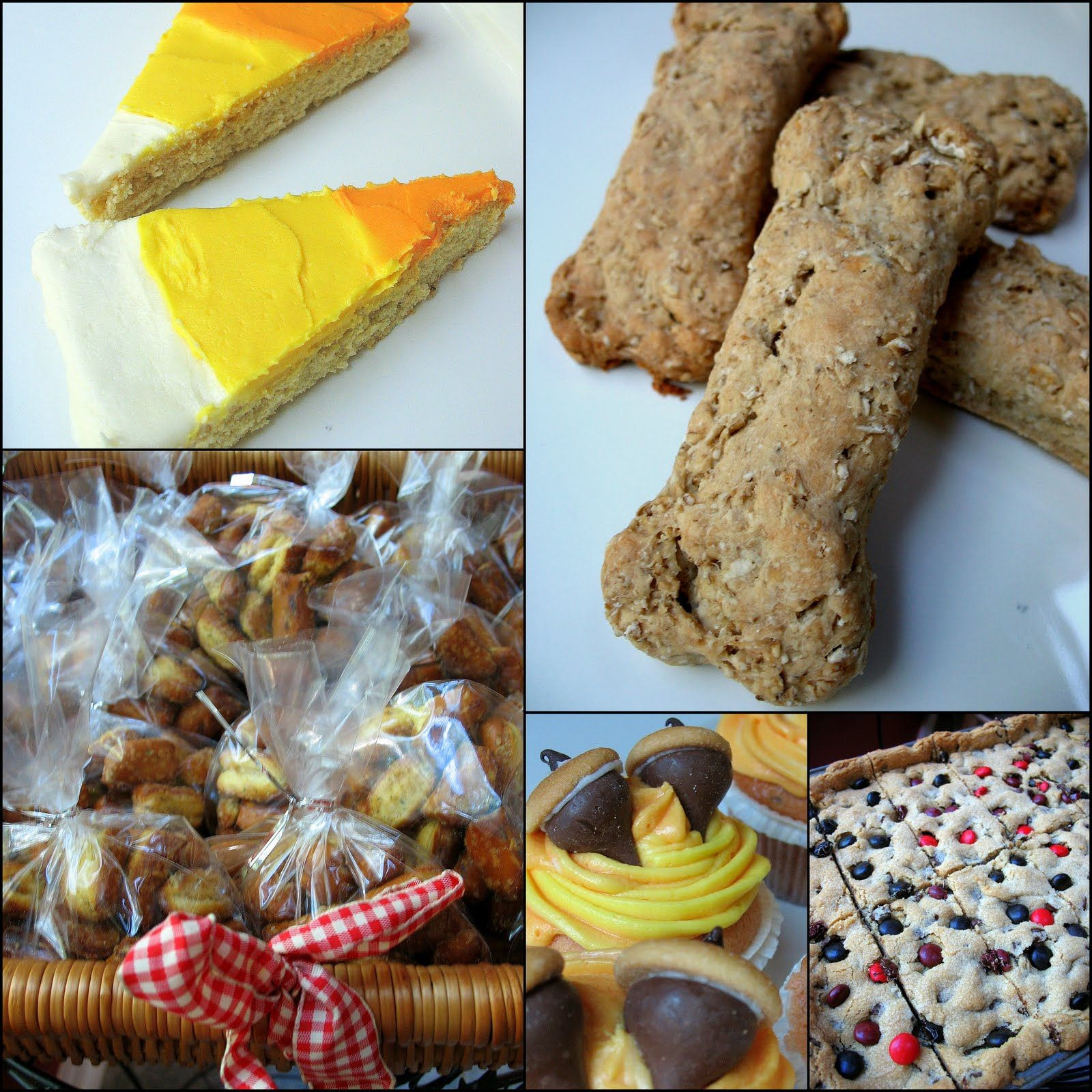 Bake Sale Doggie Treats Acorn Cupcakes Candy Corn Cookie Bars
