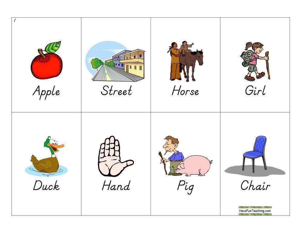 Noun Bingo Have Fun Teaching Nouns For Kids Nouns Activities