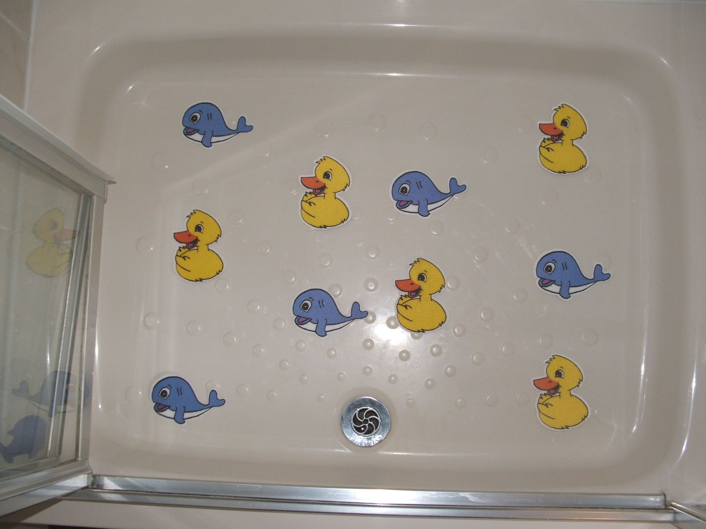 Dolly Duck And Wally Whale Non Slip Bath And Shower Stickers
