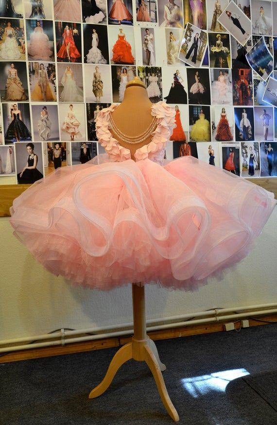 Pink Tutu Flower Tulle Girl Dress
