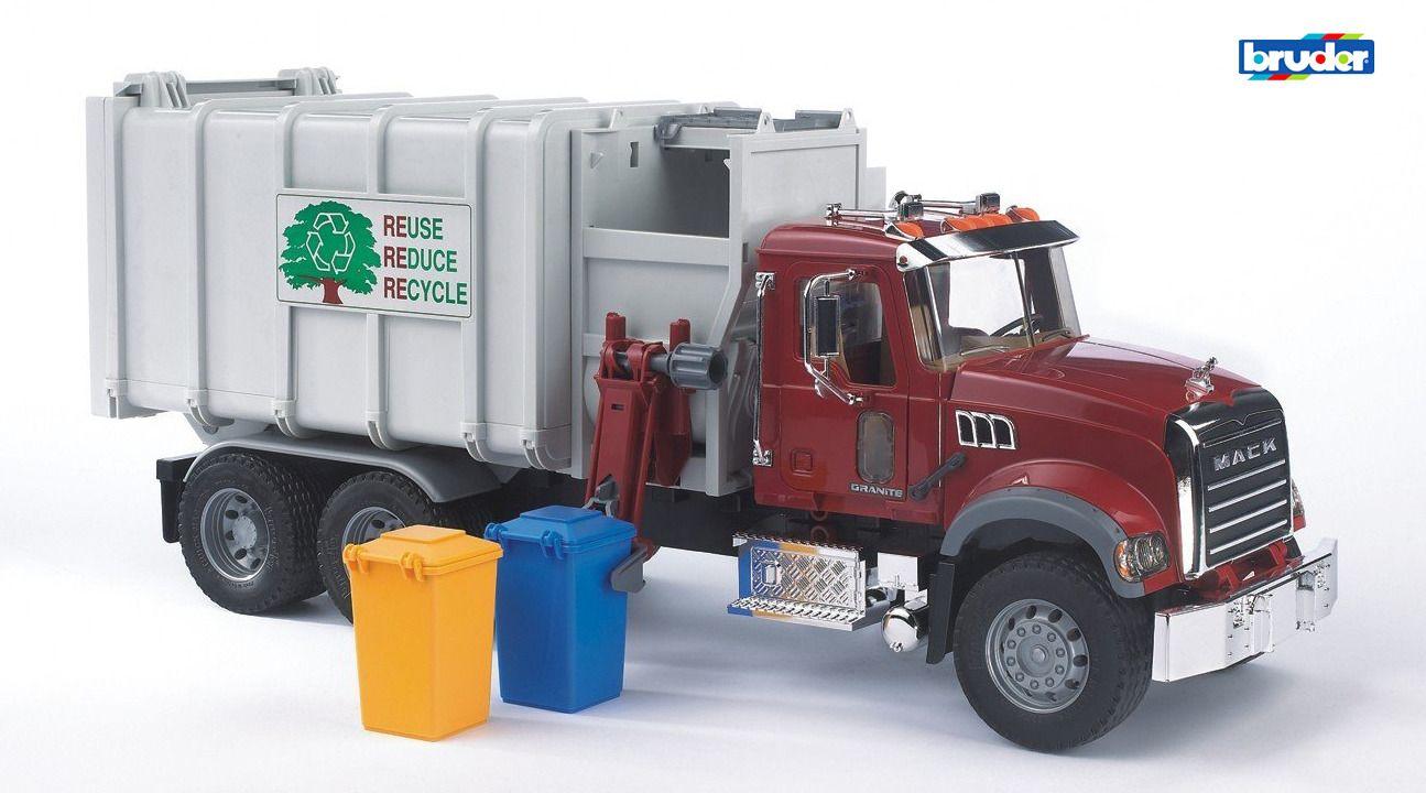 Buy Bruder Toys 02811 Mack Granite Side Loading Garbage Truck Online At Toys Etc Garbage Truck Trucks Toy Trucks