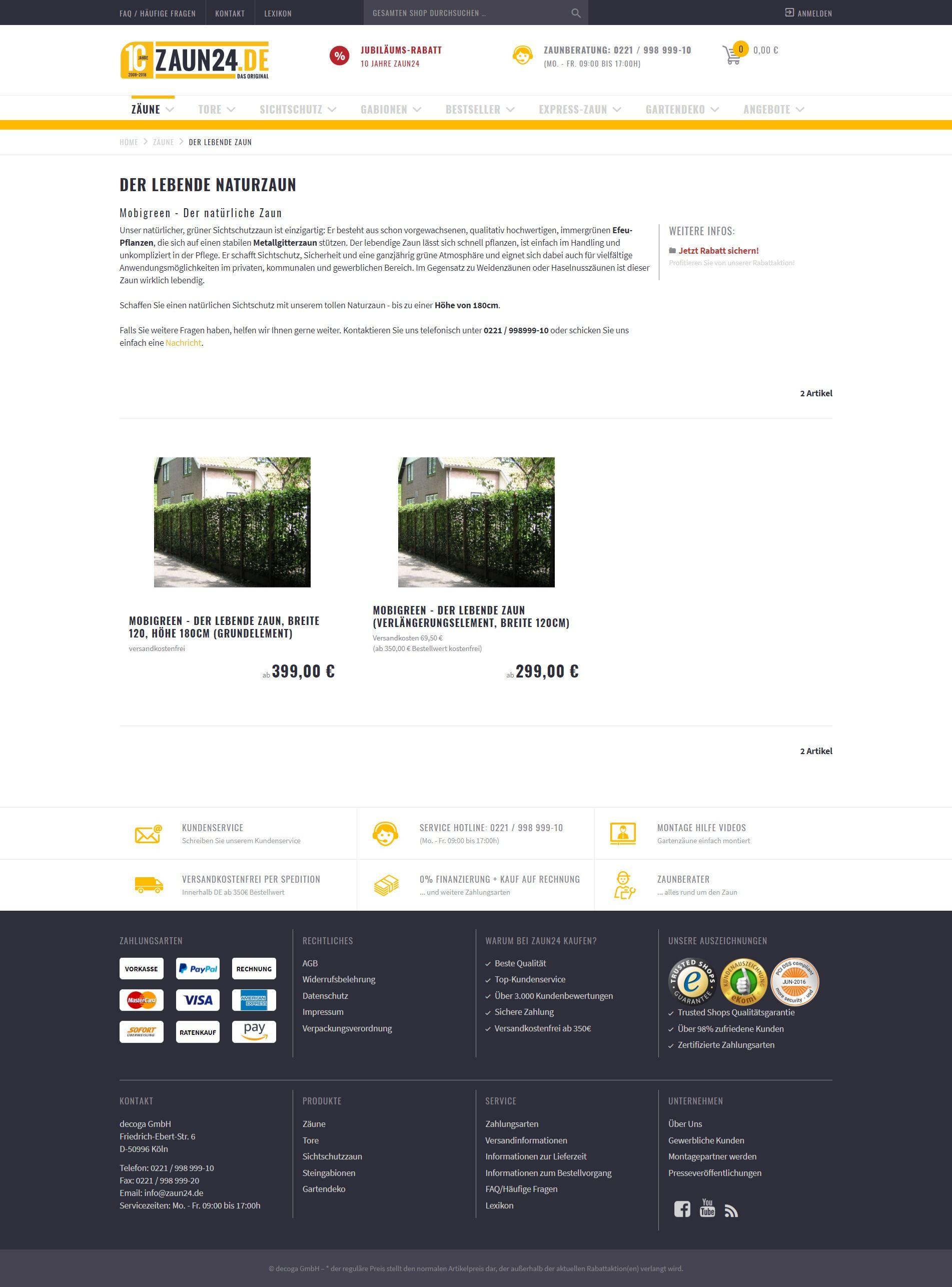 563cde612be908 Lebenden Naturzaun online kaufen bei ZAUN24. Schauen Sie doch mal rein! -  ZAUN24