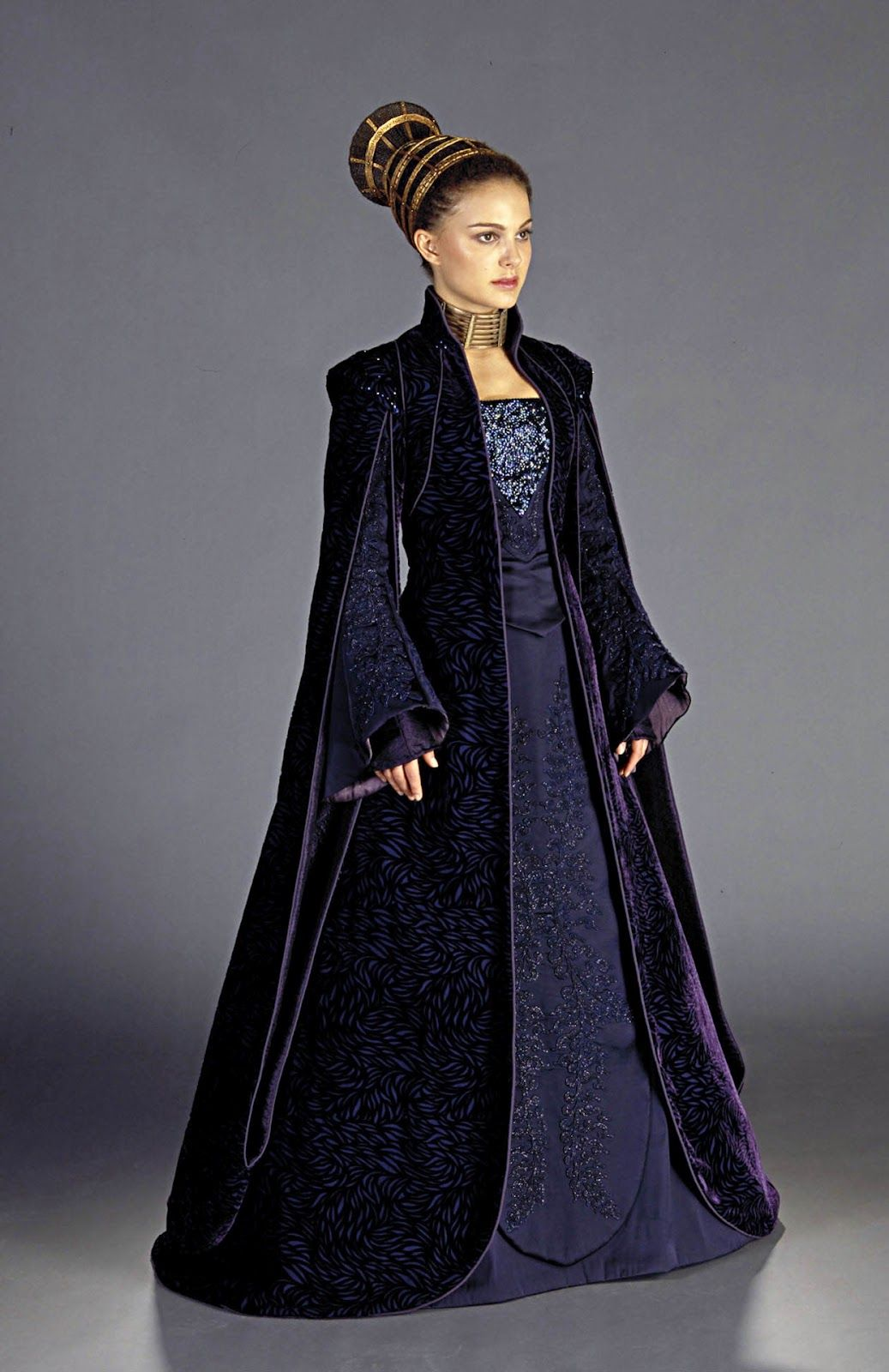Senator dress for Padme Amidala, worn by Natalie Portman in Star Wars: Episode II.