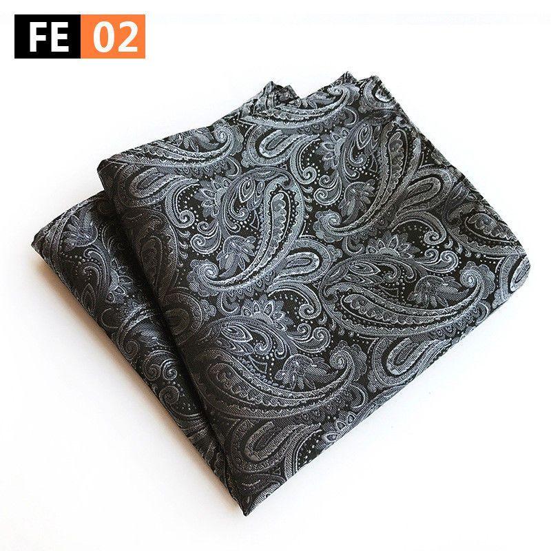 Men's Handkerchief Paisley Pattern Pocket Square Hanky Wedding Party Business