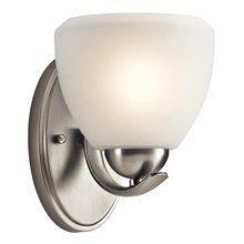 "Photo of Kichler 45117OZ Olde Bronze Calleigh 6 ""wide bathroom lamp with a light bulb – LightingDirect.com"