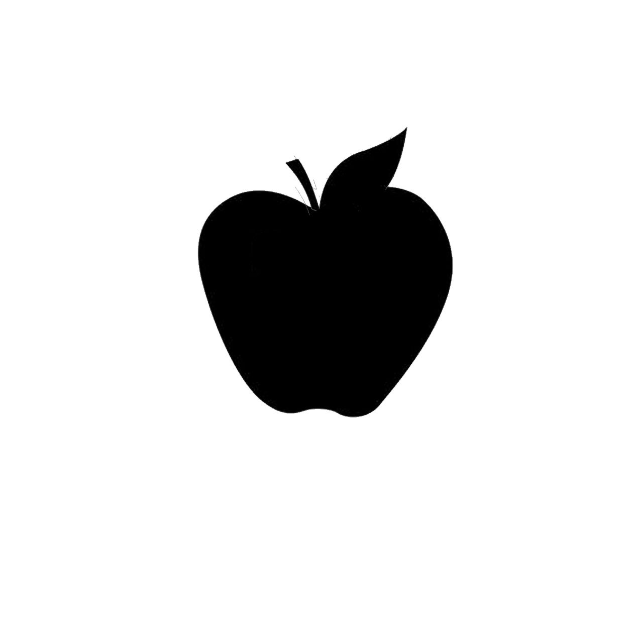 Apple Black Silhouette With A Leaf Free Vector Icons Designed By Freepik Free Icons Black Silhouette Apple Silhouette