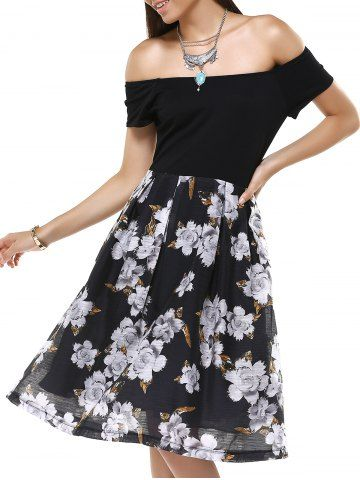 GET $50 NOW | Join RoseGal: Get YOUR $50 NOW!http://www.rosegal.com/print-dresses/vintage-off-the-shoulder-floral-pleated-dress-for-women-629581.html?seid=2275071rg629581