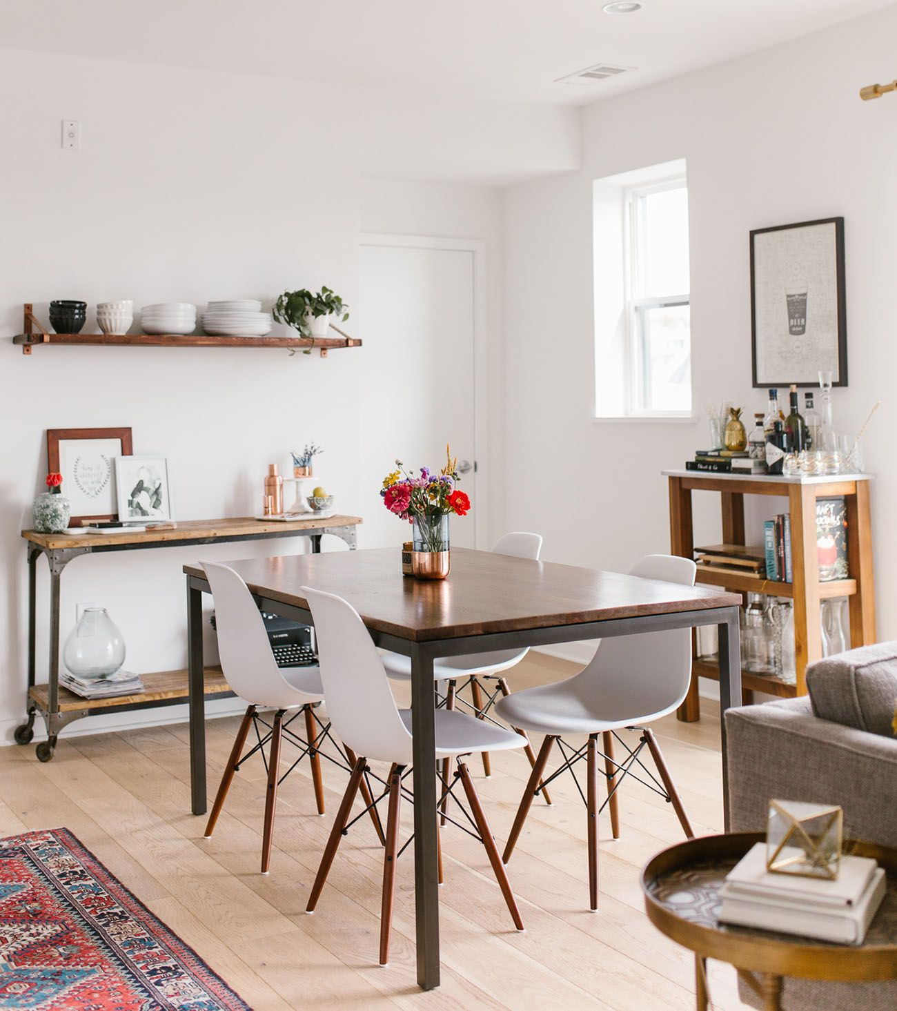 GWS Home Tour   Mid Century Modern + Boho Inspired Dining Room