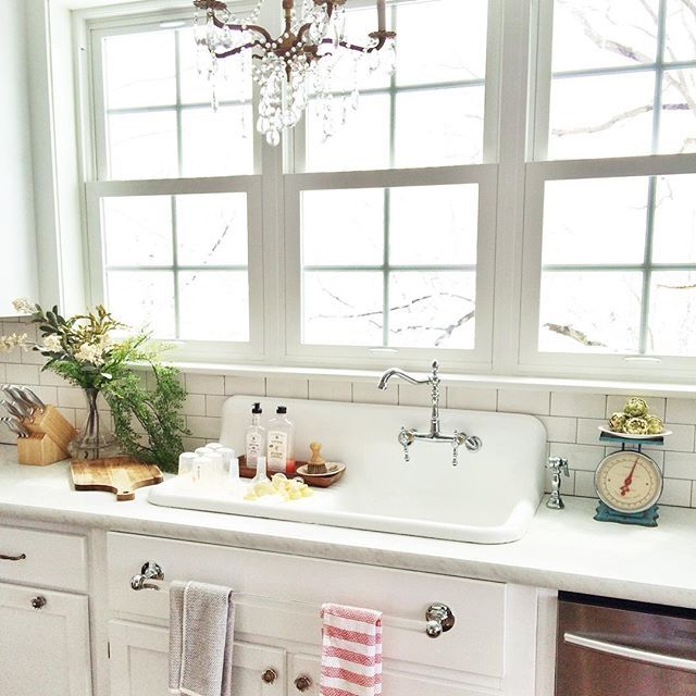 Farmhouse Sink With Drainboard With Images Farmhouse Sink