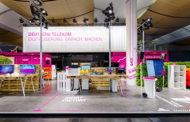 Deutsche Telekom's trade fair stand at the Hannover Messe