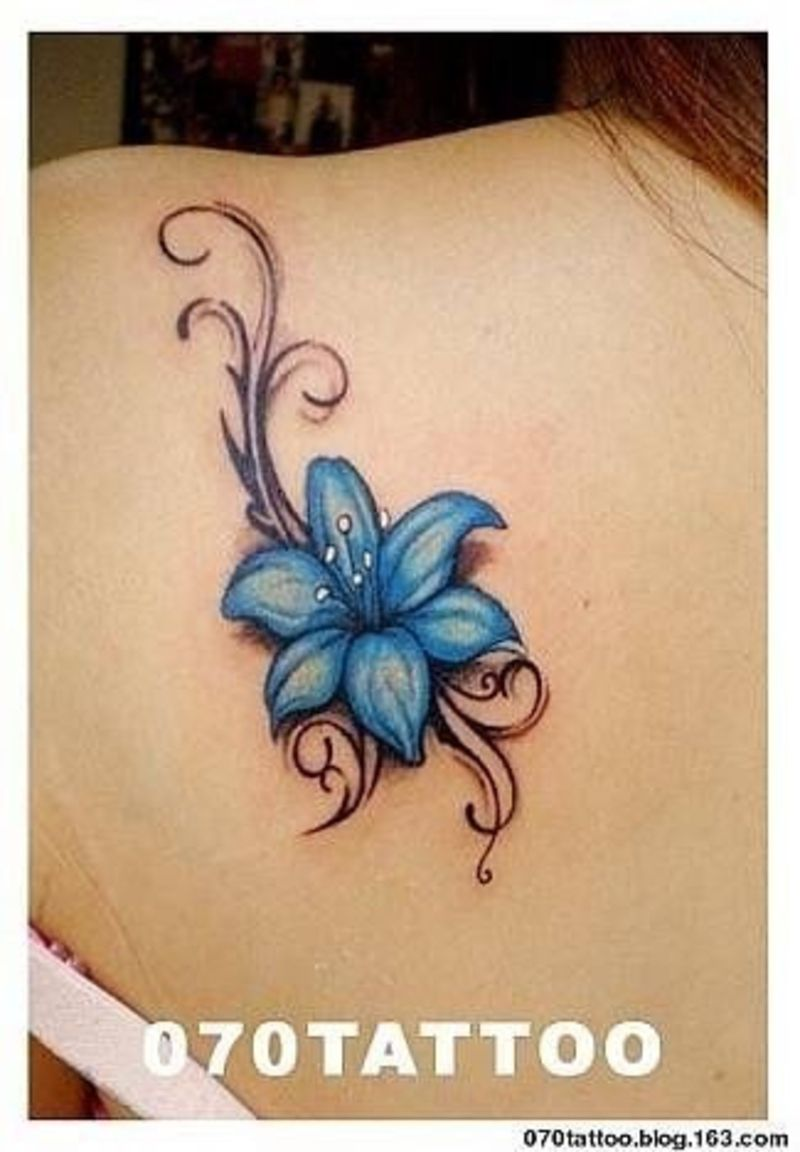 Blue Flower Tattoo Designs: 30 #Flower Tattoos That Will Make You Want Some New Ink
