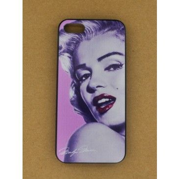 Marilyn Monroe Pink Lips Movie Poster Print iPhone 5/5S Case