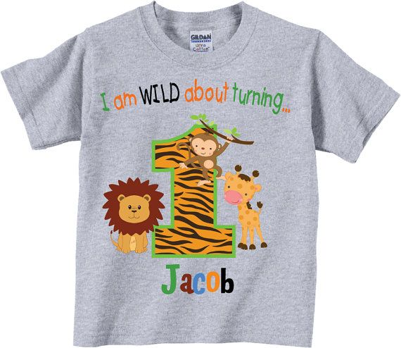 1st Birthday Shirts With Wild Jungle Animals Tees By TheCuteTee
