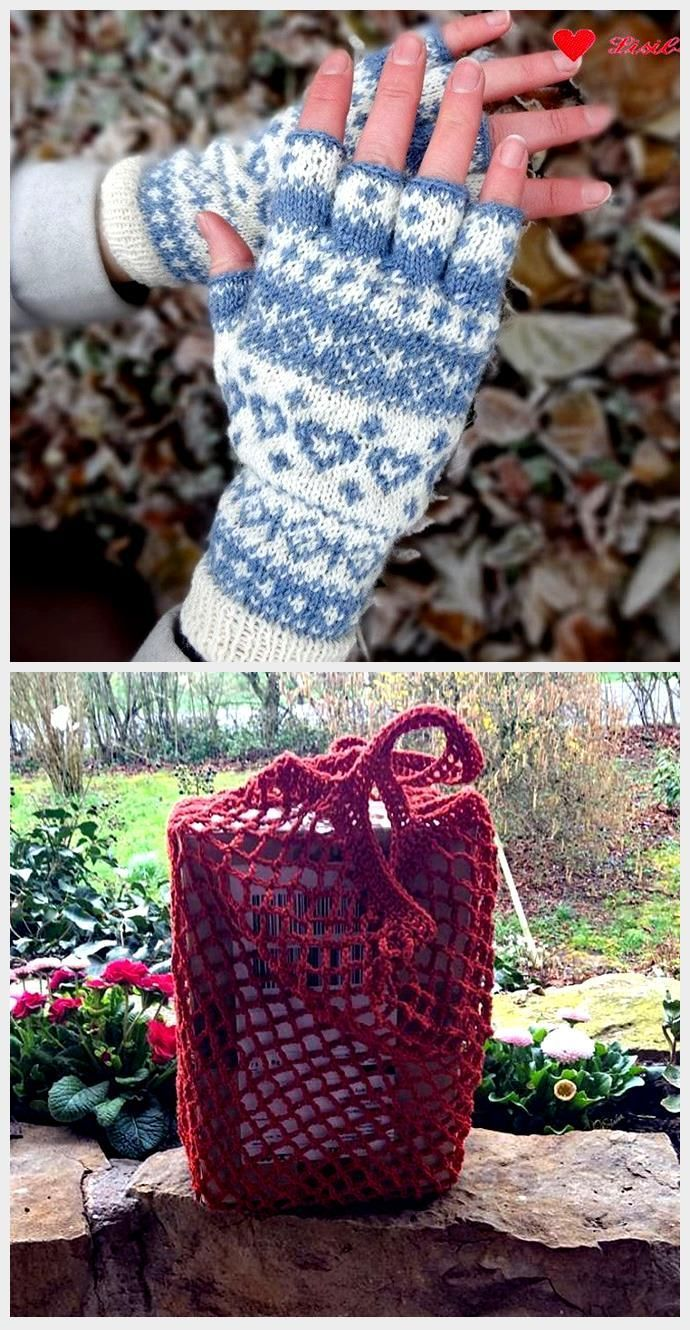 Photo of Instructions: Knit half finger gloves with Norwegian pattern, #Instructions #Half finger gloves …
