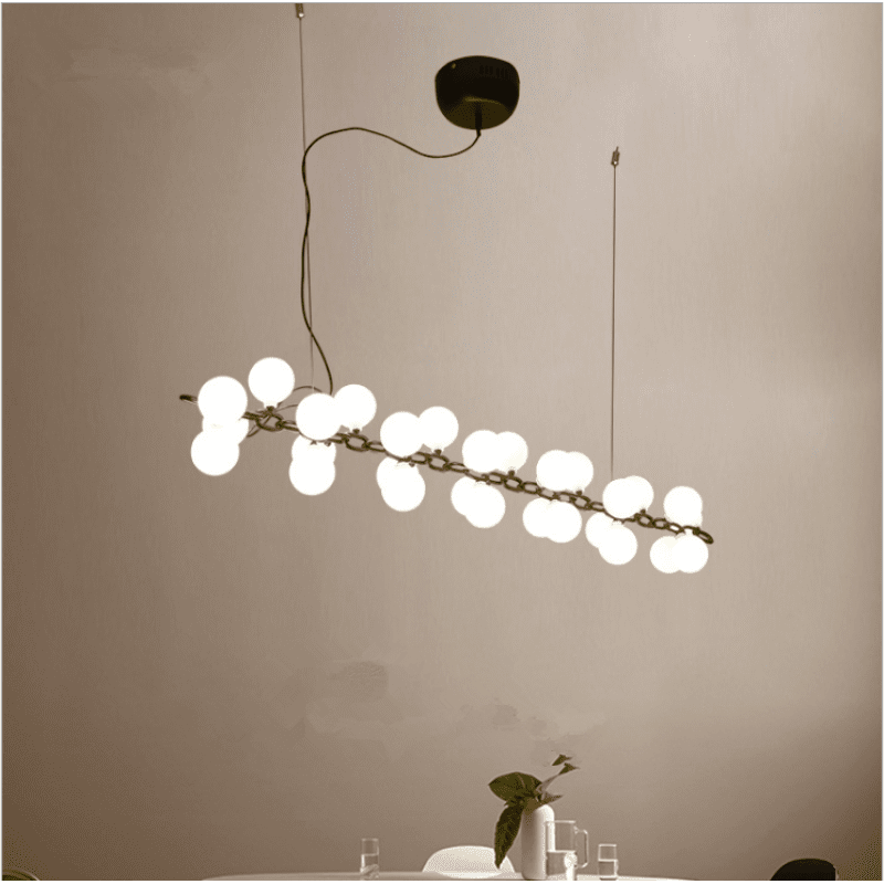 Ins Lighting New Model Indoor Chandelier Fancy Stainless Steel Pendant Light With Glass Ball W5959 Stainless Steel Pendant Light Glass Ball Kitchen Ceiling Lights