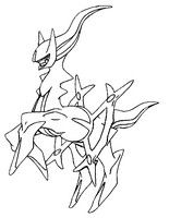 Coloring Page Pokemon Alternate Form 493 Arceus Pokemon