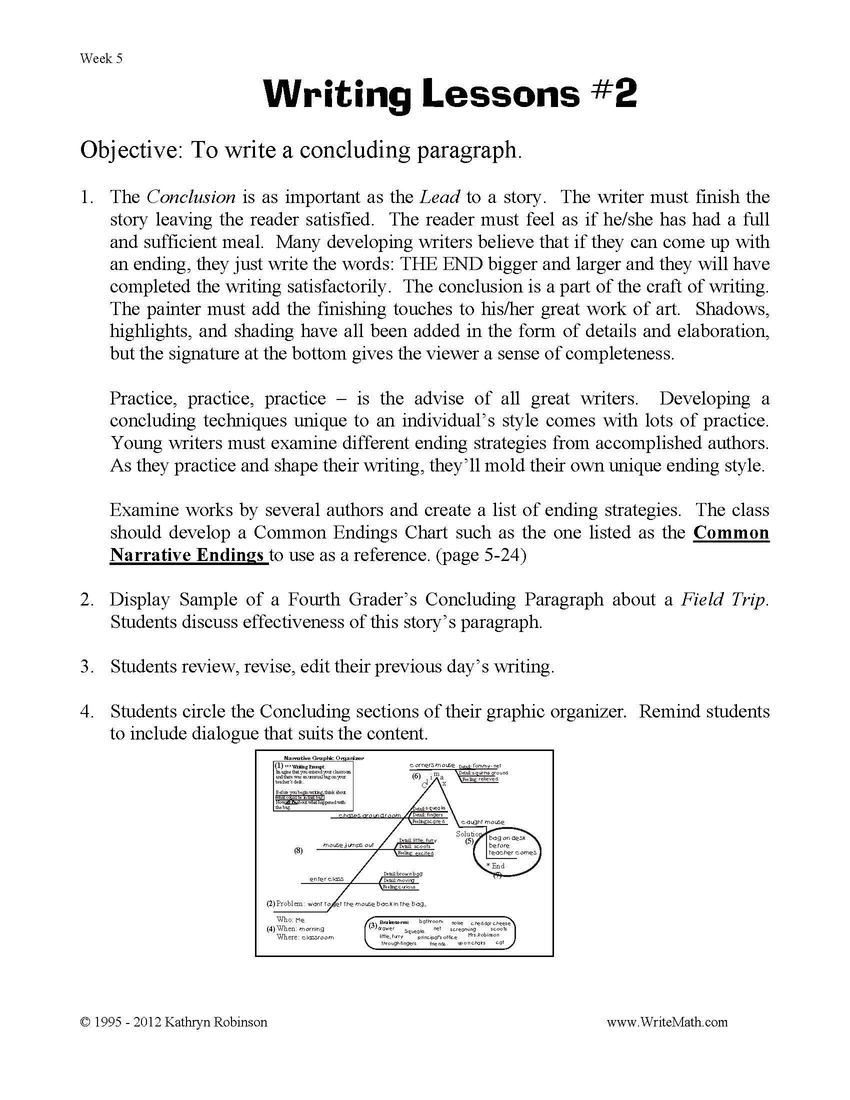 3rd Grade Paragraph Writing Worksheets 6th Grade Writing