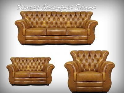 Komplet Mebli Chesterfield Edward Skora Naturalna 5755883911 Oficjalne Archiwum Allegro Chesterfield Chair Chesterfield Accent Chairs