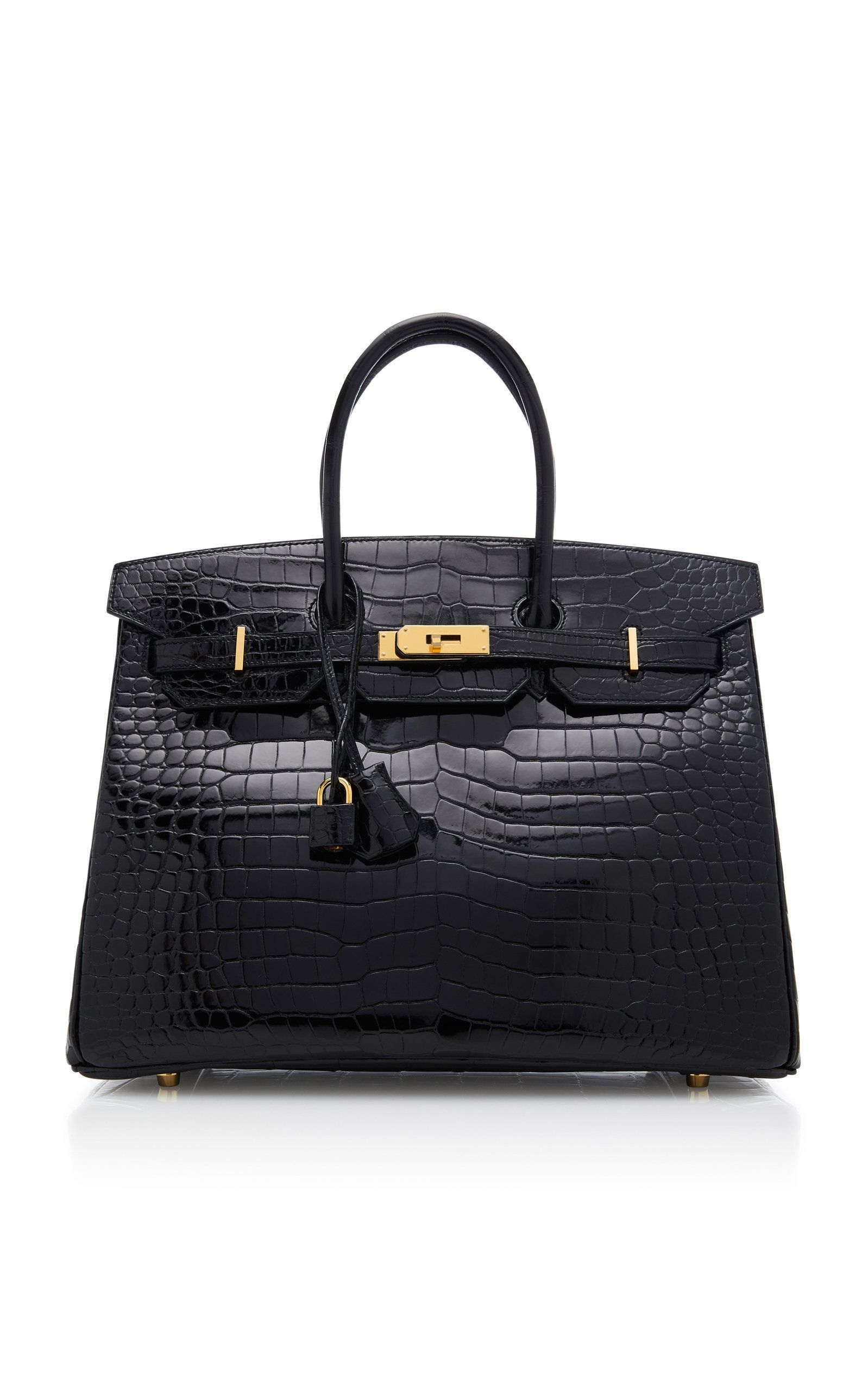 066b662e5c Hermes 35cm Black Porosus Crocodile Birkin by HERMÈS VINTAGE BY HERITAGE  AUCTIONS for Preorder on Moda Operandi