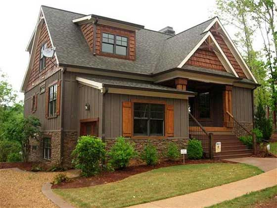 2 Story 5 Bedroom Rustic Lake Cottage House Plan Cottage House Exterior Mountain Home Exterior Cabin Exterior Colors