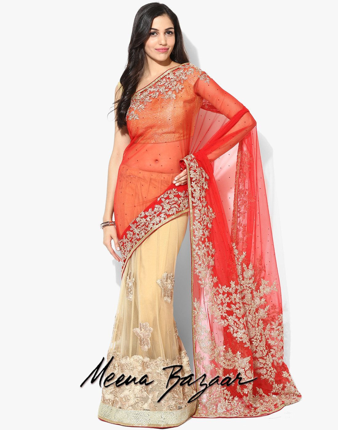 Modern readymade saree embroidered lehenga style net saree  products  pinterest  products