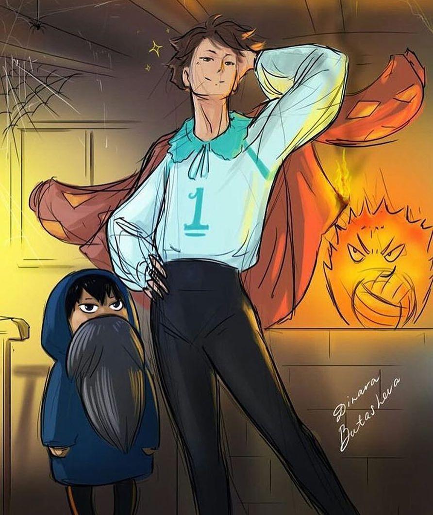 I really really love Haikyuu x Studio Ghibli crossovers