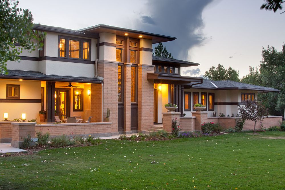 Prairie style home by kga studio architects prairie for Modern prairie style homes