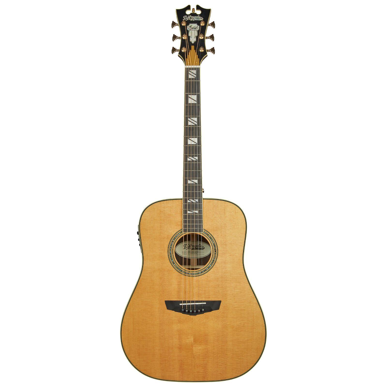 Details About D Angelico Excel Lexington Acoustic Electric Guitar Vintage Natural In 2020 Acoustic Electric Guitar Guitar Acoustic